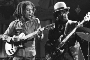 Bob Marley and Aston 'Family Man' Barrett