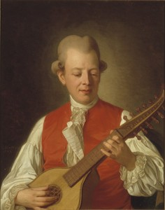 Carl Michael Bellman, portrayed by Per Krafft, 1779