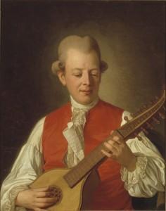 Carl Michael Bellman, portrayed by Per Krafft, 1779