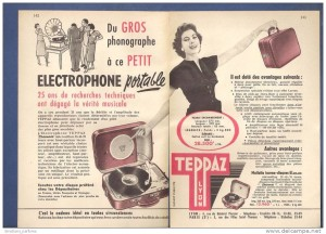 "Music from Teppaz, the portable ""electrophone"""